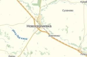 карта новосергиевского района