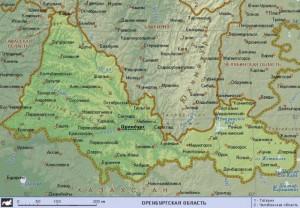 Оренб область современная карта