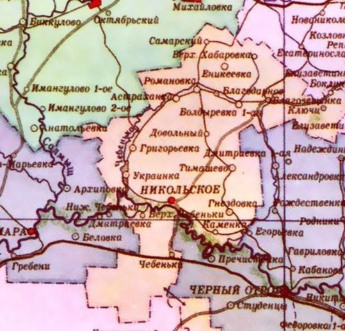 западная часть Тюльганского района