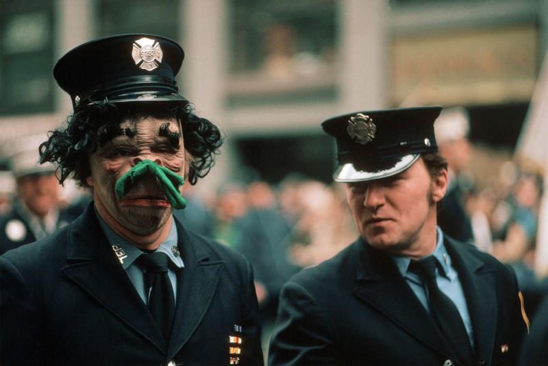 Полиция Нью-Йорка на параде Святого Патрика