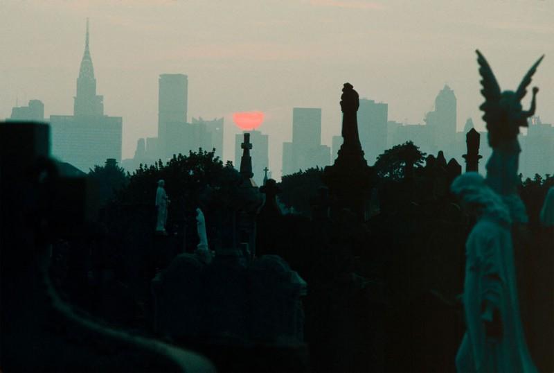 Закат с городского кладбища