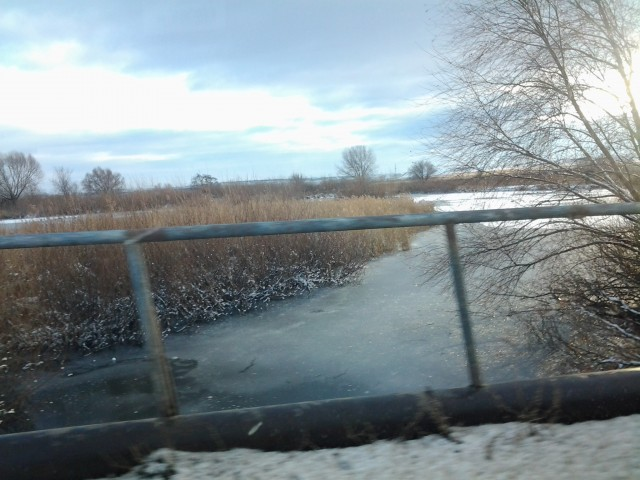 Мост в поселке Геологи