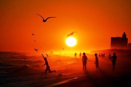 Sunset on Pensacola beach, USA