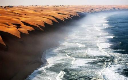 The place where the Namib Desert meets the sea