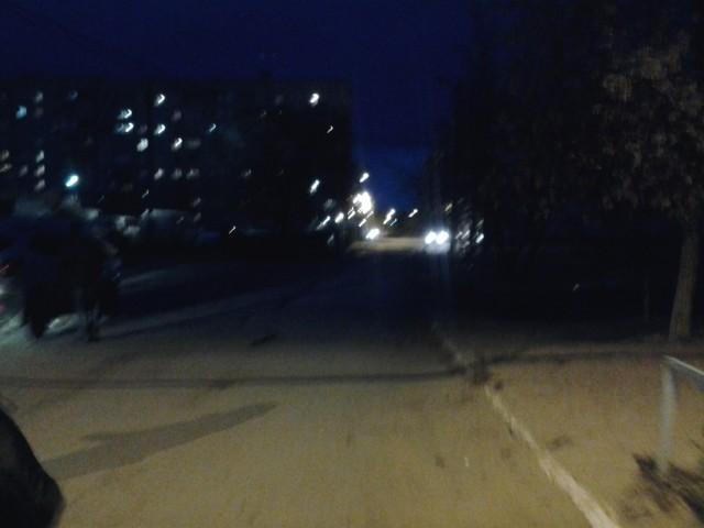 Микрорайон ночью