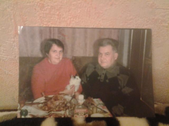 Николай Иванович Агальцов со своей женой Марией Семеновной урожденной Глуховой.