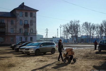 на одного жителя Корсаков
