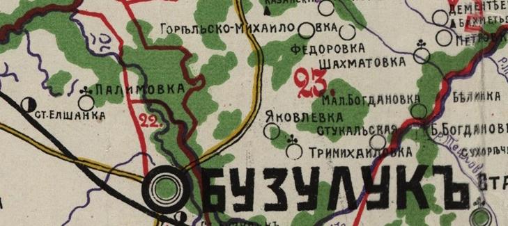 На карте видно месторасположение Яковлевки относительно Тримихайловки