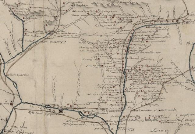 Оренбургская губерния 1802 год. Пустующие земли по Чебеньке и Елшанке