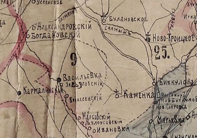 Хутор Богдановский четко виден на карте 1914 года