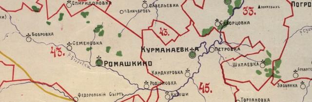 На карте видны Торпановка, Шулаевкеа, Кутуши, Бобровка