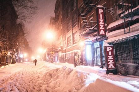 америка в снегу 2016