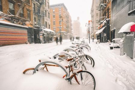 америку засыпало снегом 2016