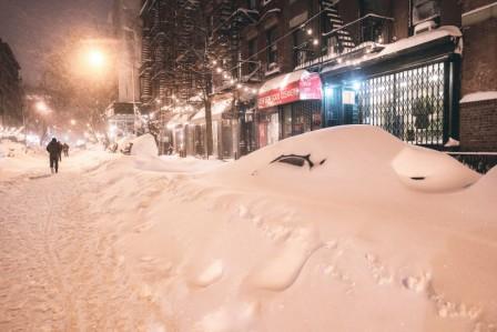 нью йорк в снегу