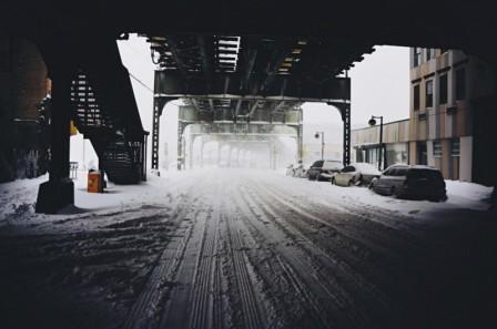 нью йорк засыпало снегом