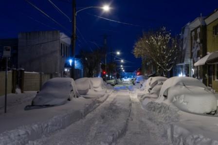 в нью йорке выпал снег