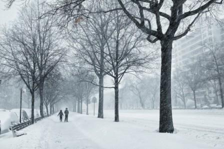 зима в нью йорке фото