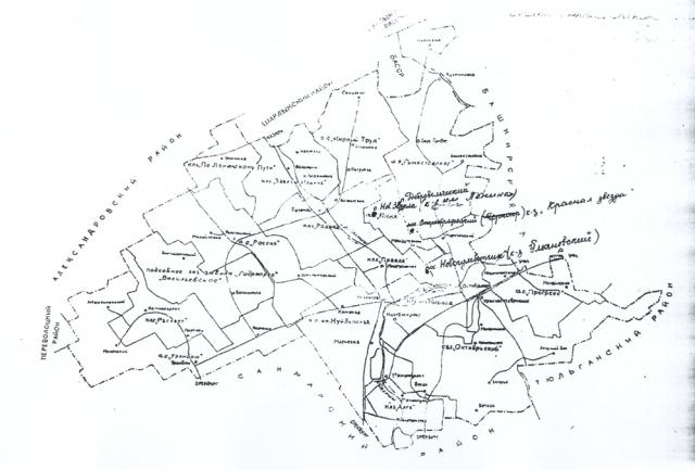 Приложение № 12 - Карта Октябрьского р-на,1922г