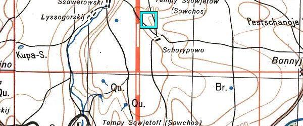 Населенный пункт Борковский северо-восточнее Саверовки