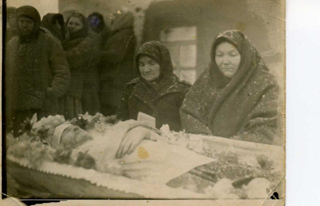 Похороны Владимира Яковлевича Новикова в Малой Добринке